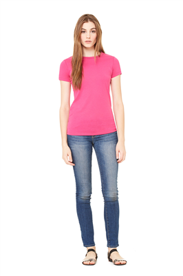 BL075 BELLA+CANVAS® Women's Poly-Cotton Short Sleeve Tee