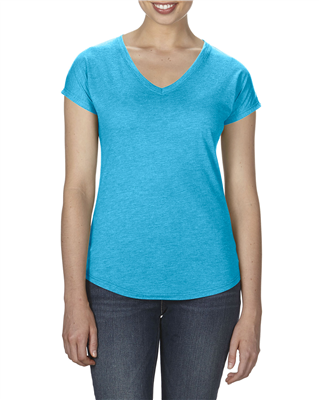 AN078 ANVIL® Women's Tri-Blend V-Neck Tee