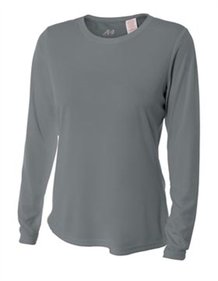 A4088 A4 Women's Long Sleeve Cooling Performance Crew