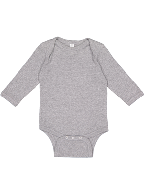 RS823 Rabbit Skins Infant Long Sleeve Baby Rib BodySuit