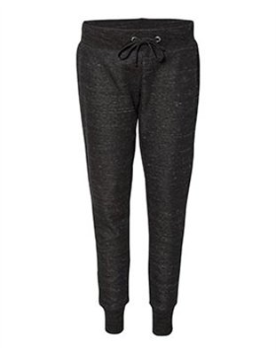 JA087 Ladies Melange Fleece Jogger Pant