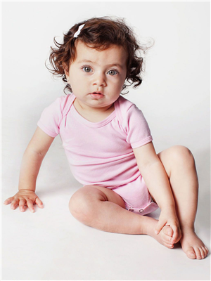 AR820 Infant Baby Rib Short Sleeve One-Piece
