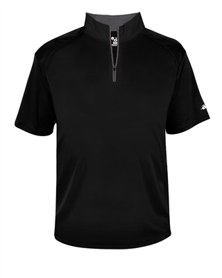 BA244 Badger Sport® B-Core Short Sleeve 1/4 Zip