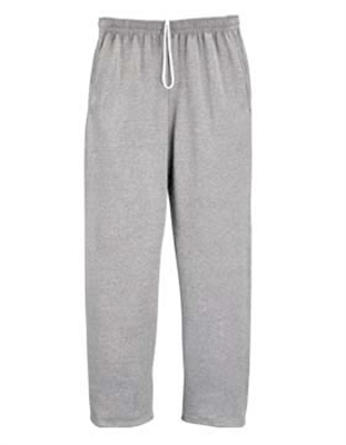 JZ385 Pocketed Open Bottom Sweatpants
